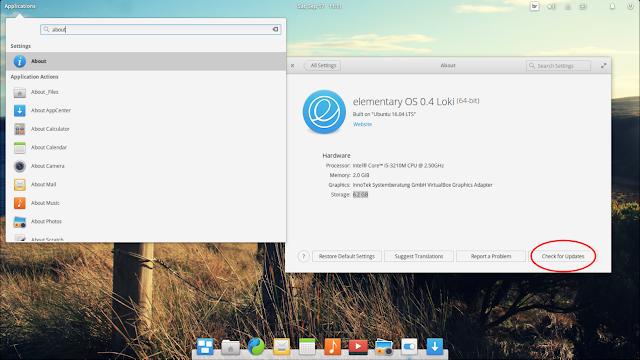Atualizando o elementary OS