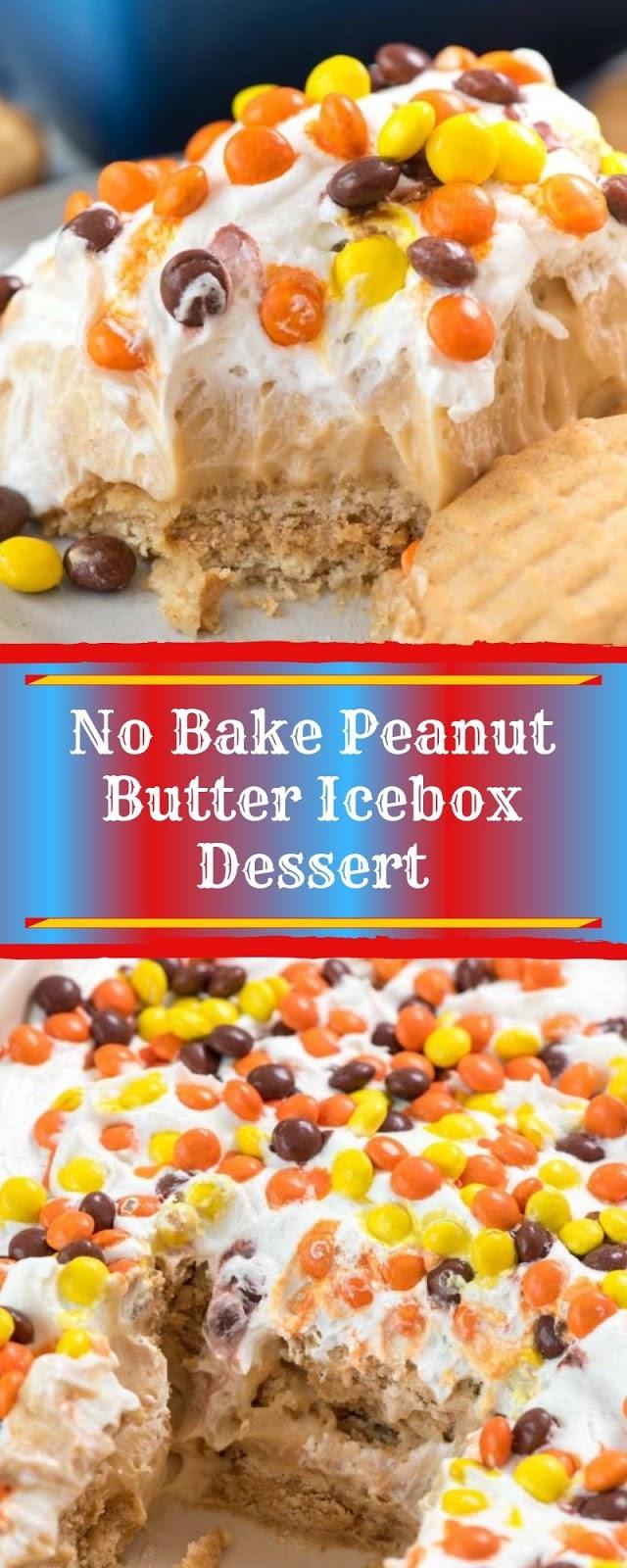 No Bake Peanut Butter Icebox Dessert