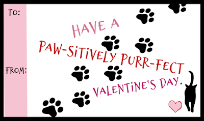Kitten and Cat Printable Valentines @michellepaigeblogs.com