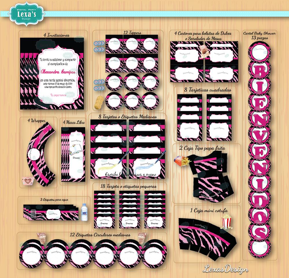 Kit imprimibles para fiestas Animal Print gratis