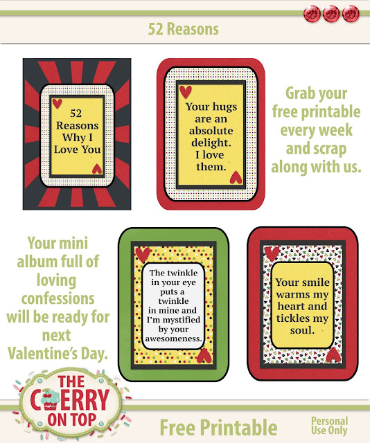 52 Reasons #3 Free Printable For Your Mini Album