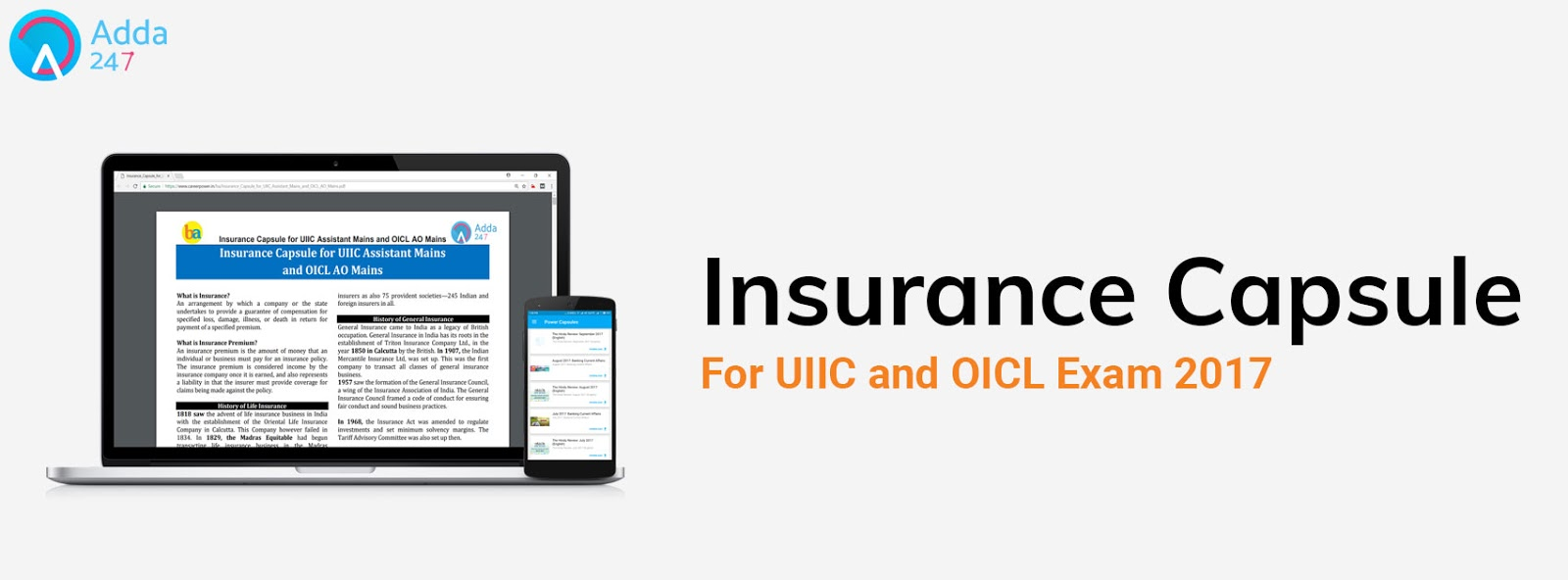 Insurance Capsule For Uiic Assistant And Oicl Ao Mains Exam