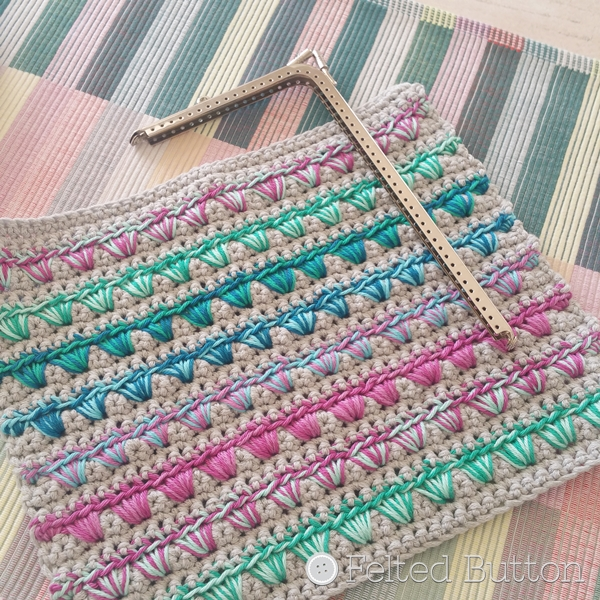 Scheepjes Catona and Bloom Clutch (free crochet pattern) from Susan Carlson of Felted Button