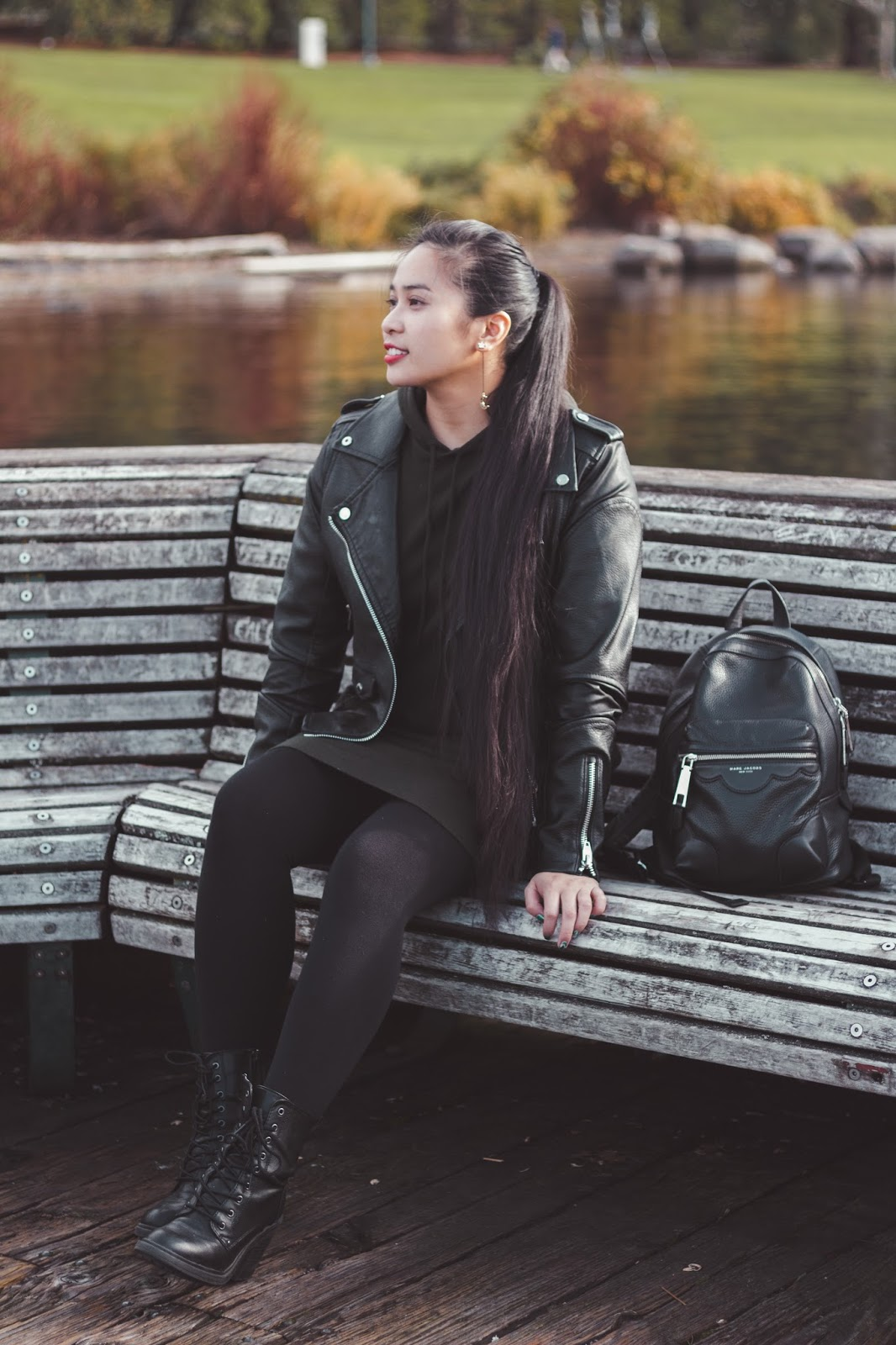 renton fashion outfit blogger seattle jacket forever 21 blanknyc michael kors backpack