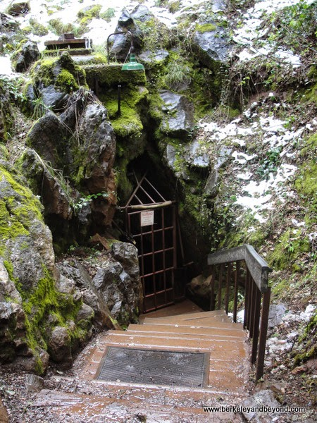 entrance to Black Chasm Cavern in Volcano, California