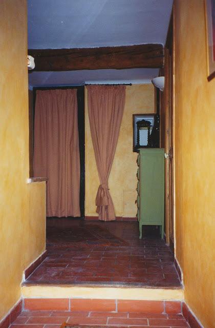 couloir, chaux, patine à la cire, jaune, ocre, campagne