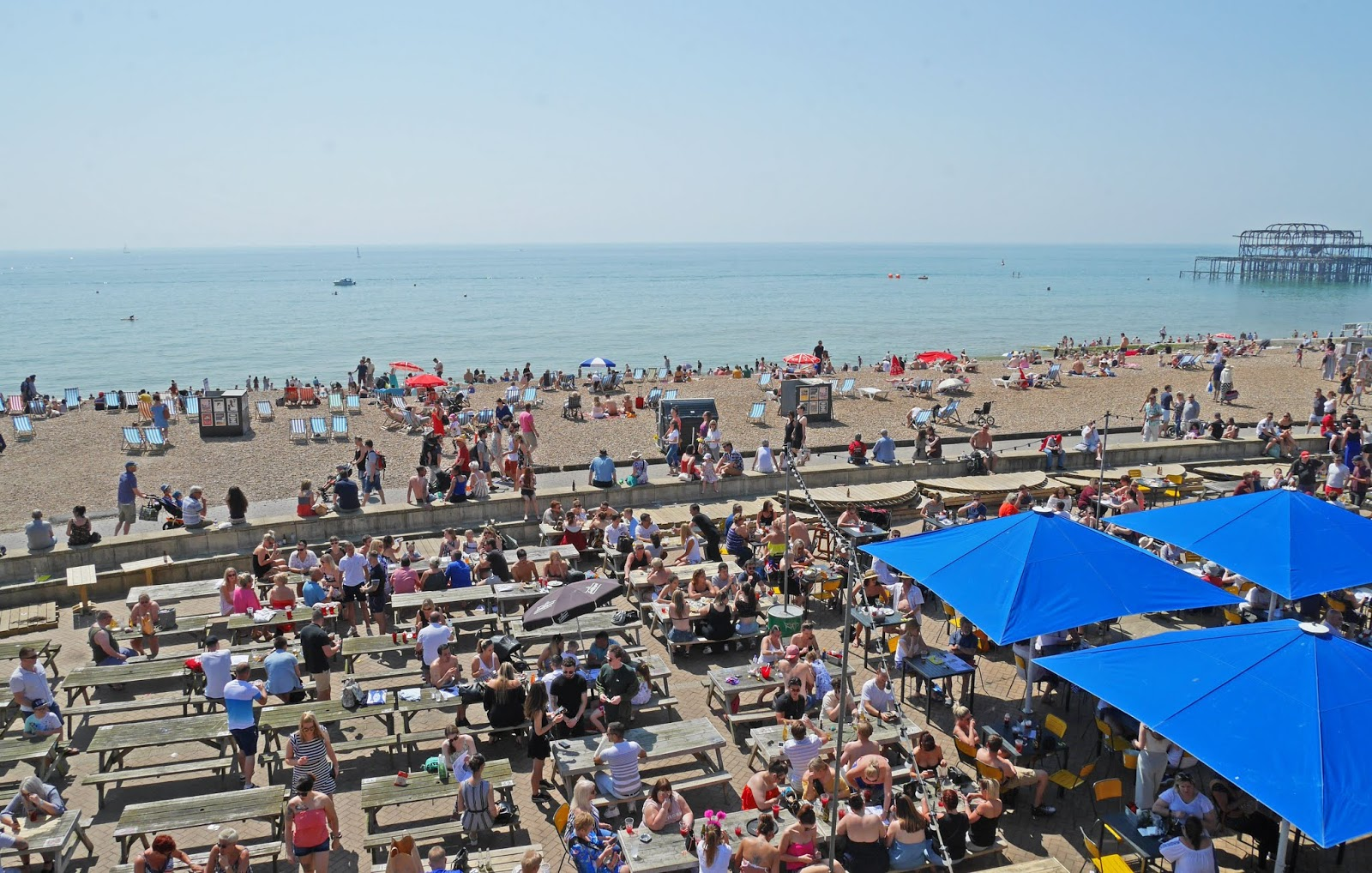 Brighton Beach over the bank holiday weekend