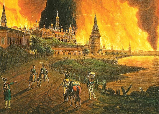 Napoleon invasion - Moscow fire 1812 - Russophobia