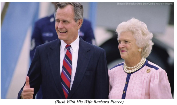 bush with his wife barbara pierce