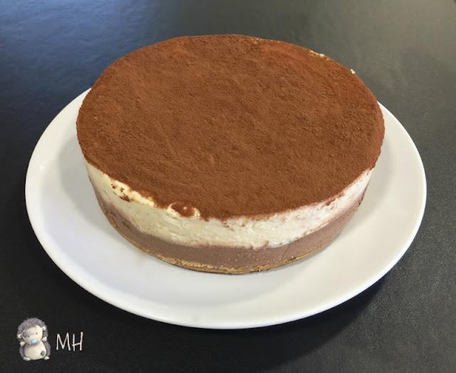 Tarta de chocolate, café y mascarpone