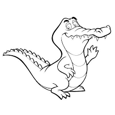 Cute Crocodile Images For Coloring Pages