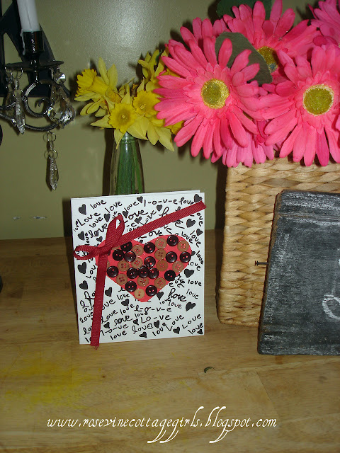 Valentines Day Card, Sweet Valentine, Homemade Valentine, Making Cards, How to Make Cards, by Rosevine Cottage Girls