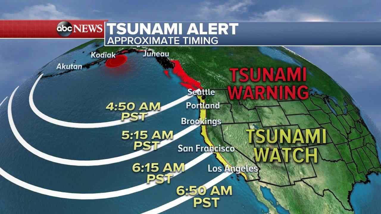 tsunami warning for us west coast after magnitude