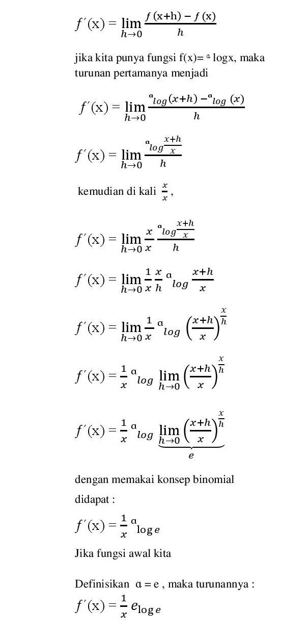 Sifat Logaritma Natural : sifat, logaritma, natural, Contoh, Logaritma, Natural, Jawabannya, Kumpulan