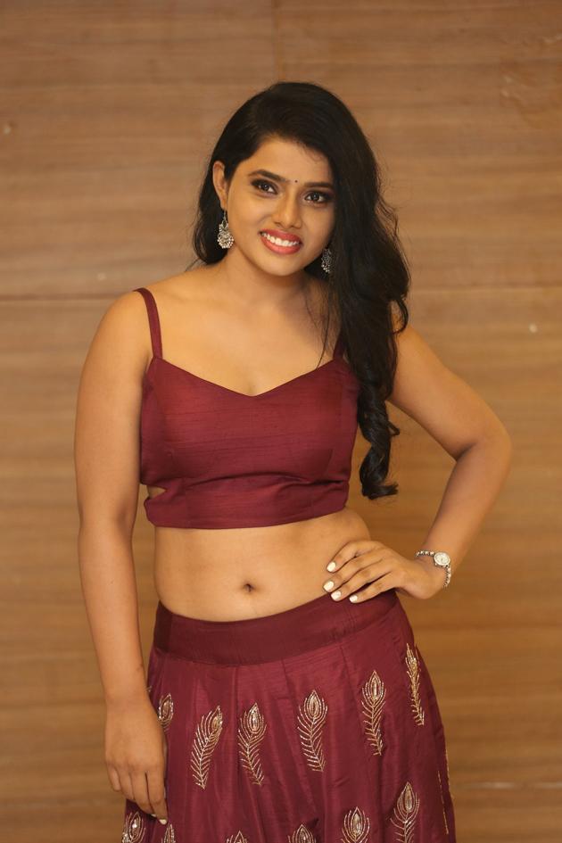 Sumaya Choco in lovely maroon Choli and Skirt spicy Pics