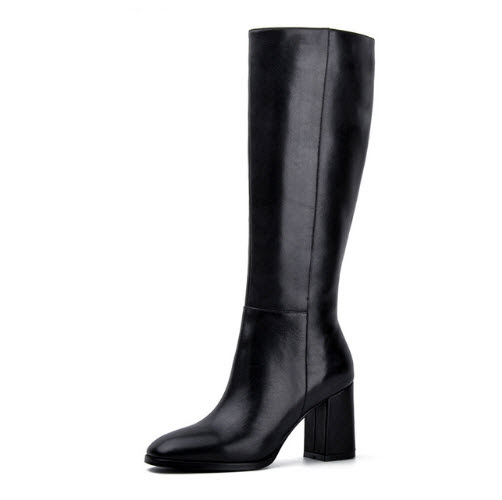 Elegant Leather Knee-High Boots