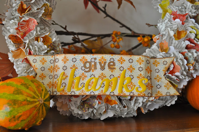 Paper Thanksgiving wreath tutorial