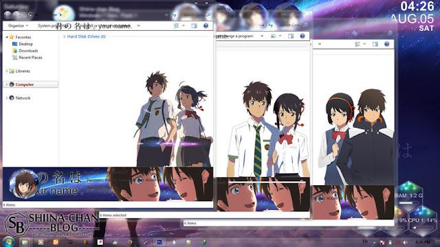 Kimi no Nawa Theme Win 7 by Enji Riz Lazuardi