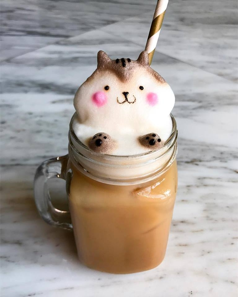 01-Chipmunk-Daphne-Tan-3D-Coffee-Latte-Creature-Designs-www-designstack-co