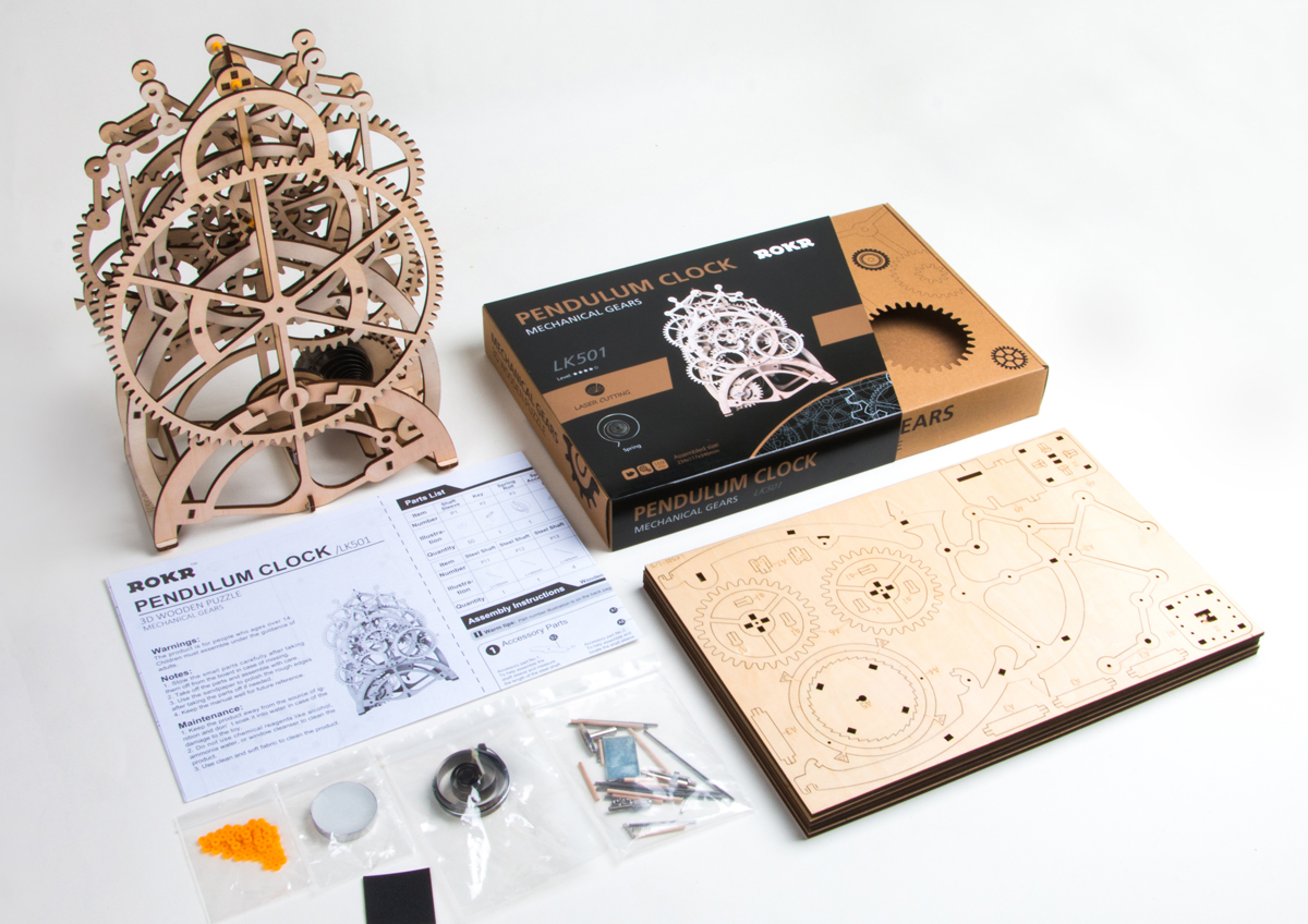 In Soul: ROKR Wooden Mechanical Pendulum Clock: Merry