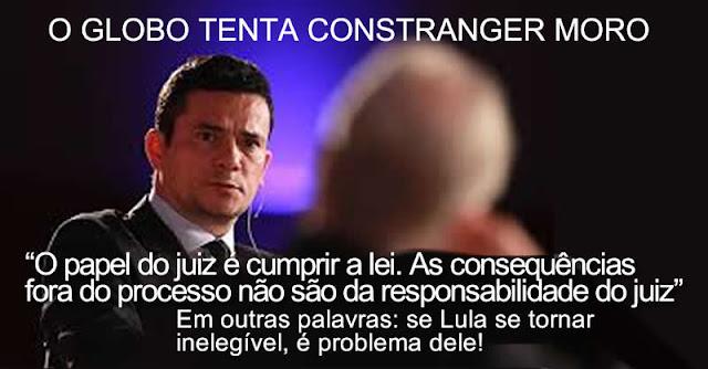 """Resultado de imagem para Moro sobre Lula cair na Ficha Limpa: """"Alguém cometeu um crime, a lei prevê inabilitações e isso pode acontecer."""""""