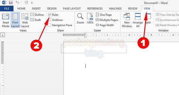 Menampilkan Ruler di Microsoft Word