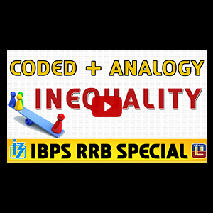Coded + Analogy (Inequality) | Reasoning | IBPS RRB Special 2017