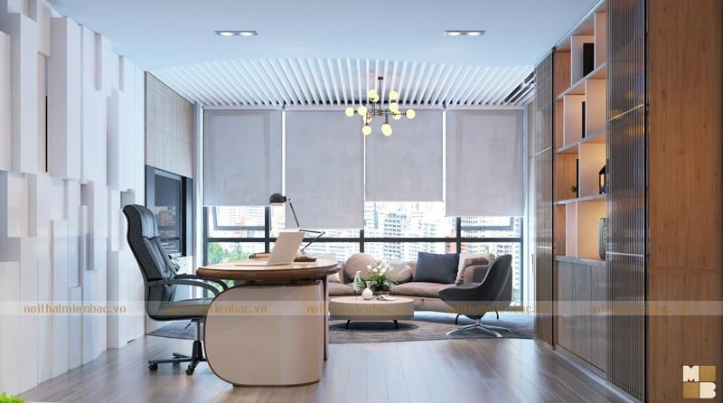 Thiết kế nội thất phòng giám đốc không gian mở chuyên nghiệp