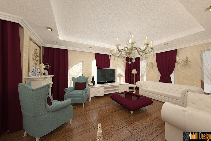 Amenajare interioara living clasic de lux | Firma amenajari interioare case clasice Brasov.