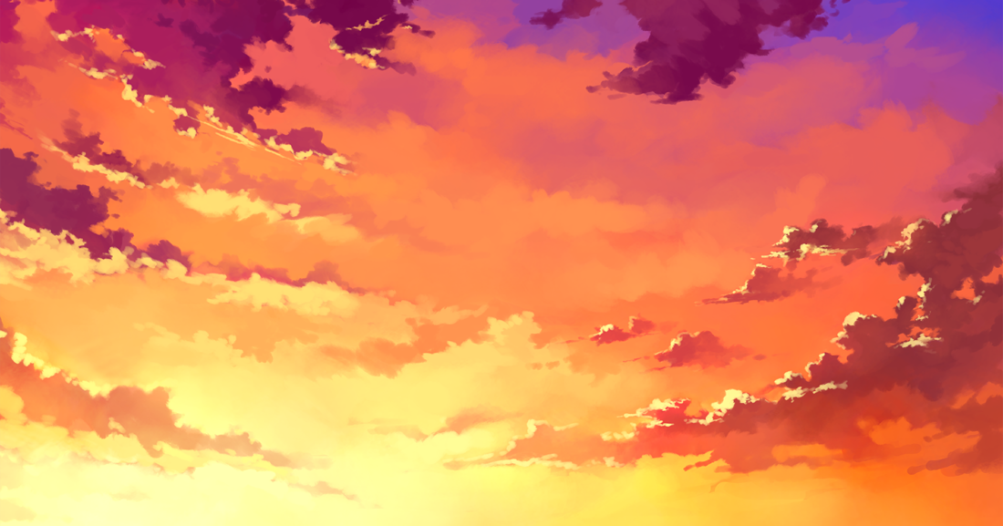Anime Landscape Sky Anime Background