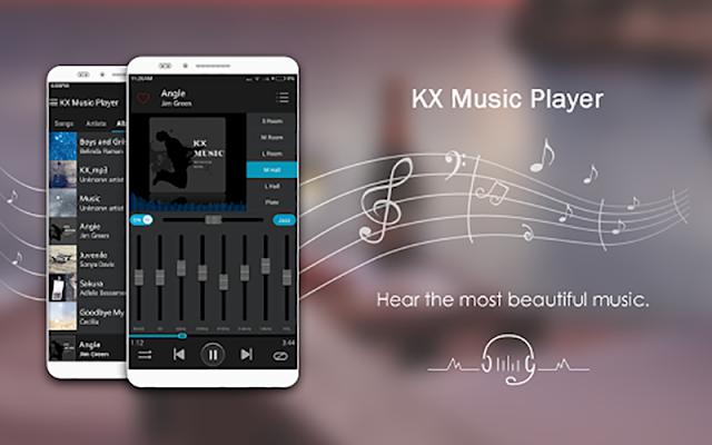 KX Music Player Pro v1.7.6 + F.u.l.l - Phần mềm nghe nhạc cho Android