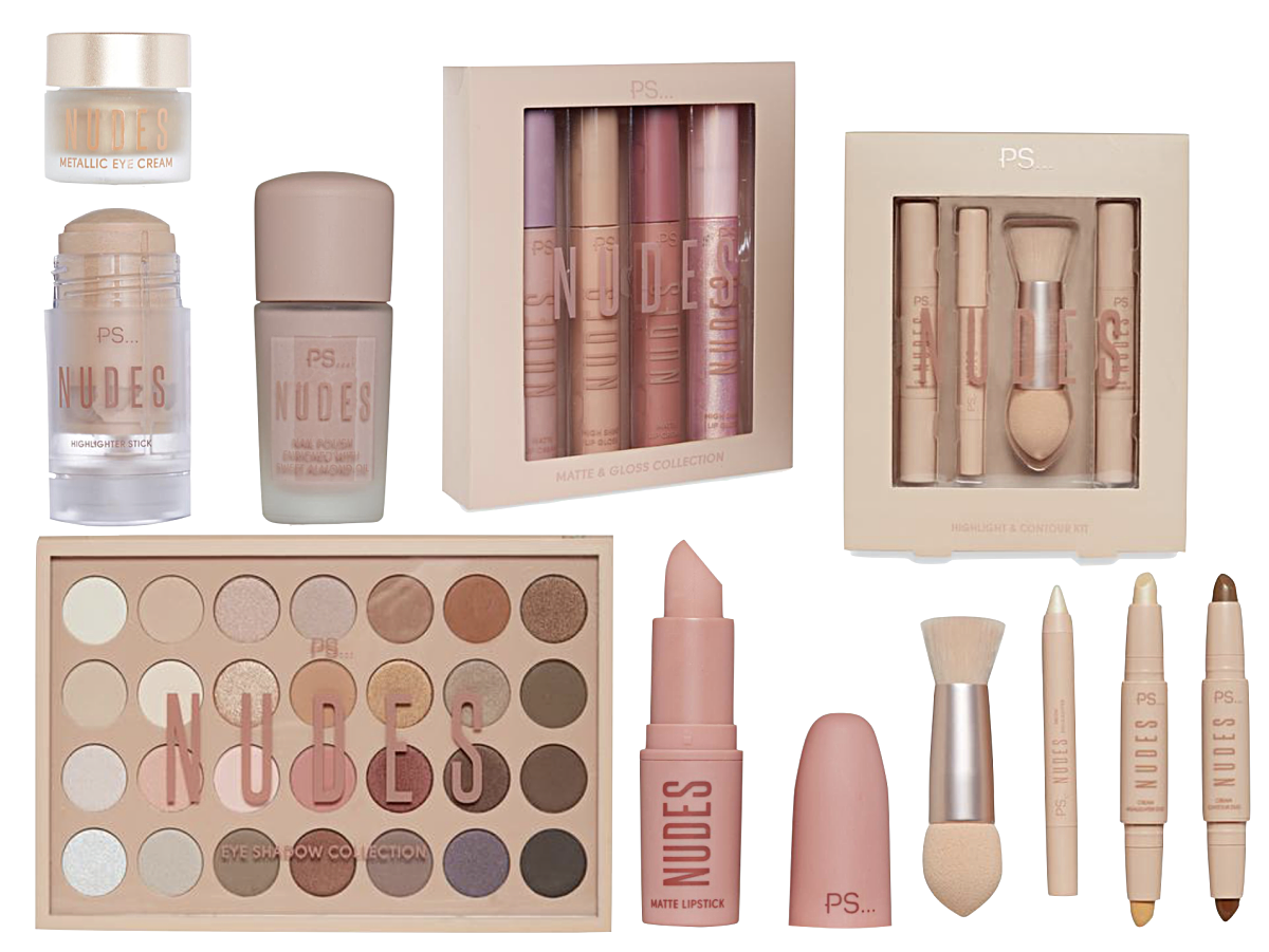 Primark nudes collection, maquilhagem primark, primark Portugal, PRIMARK PS... NUDES COLLECTION