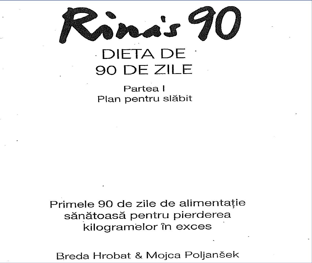 cartea dieta rina 90 de zile