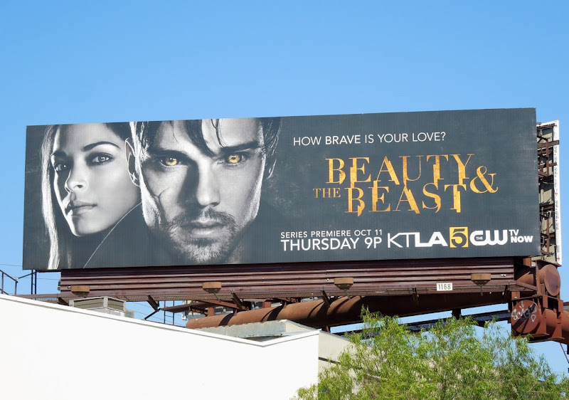 Beauty and Beast TV remake billboard