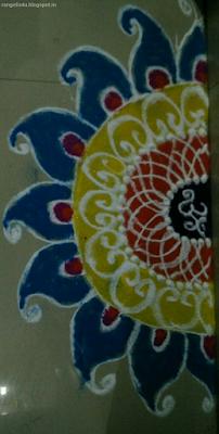 Semi Circle Rangolis