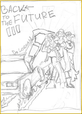Back to the Future 3 sketch poster