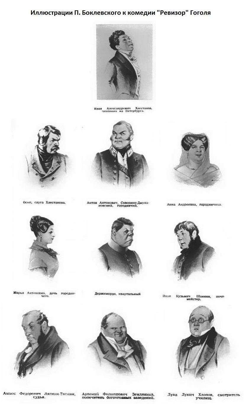 главные персонажи ревизор