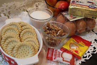 Рецепта за ябълков сладкиш с бисквити
