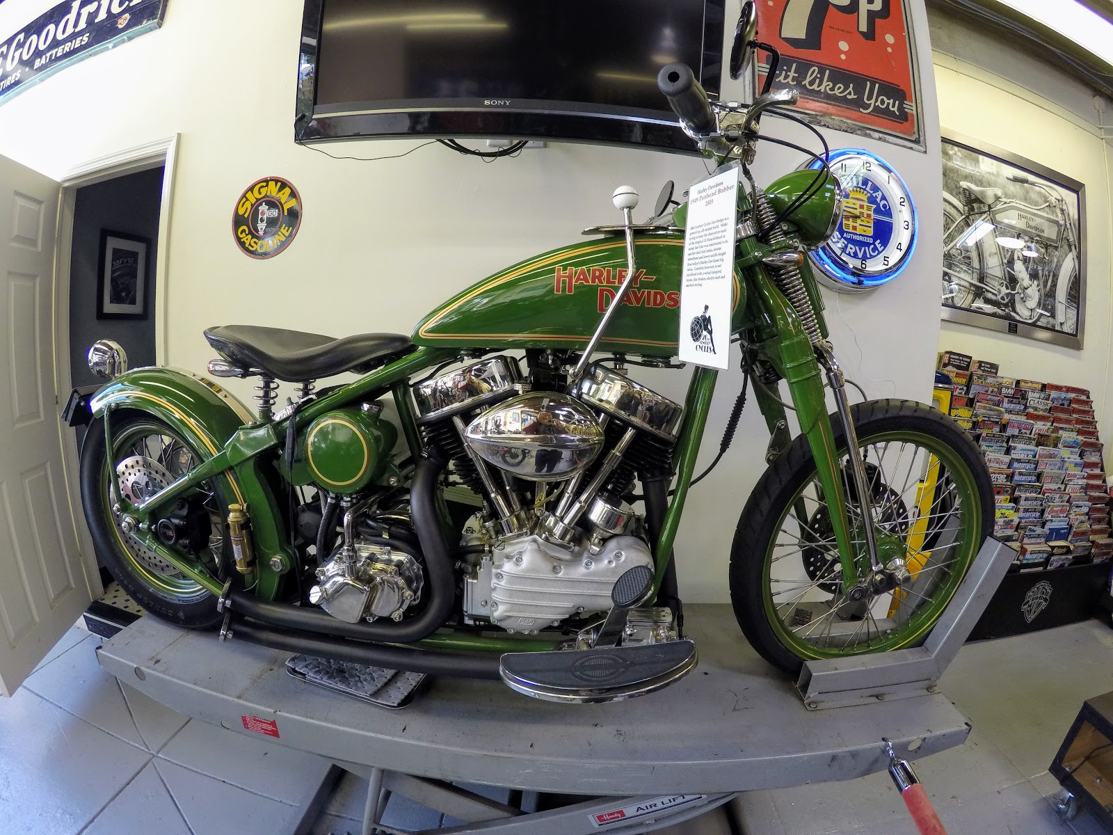 NYDUCATI presents Billy Joel's 20th Century Cycles Harley Davidsons 1949 Panhead Bobber
