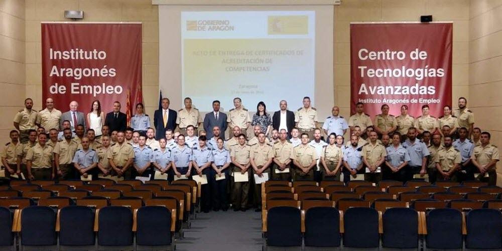 INAEM y Defensa acreditan la experiencia de 75 miembros de las Fuerzas Armadas para favorecer su empleabilidad