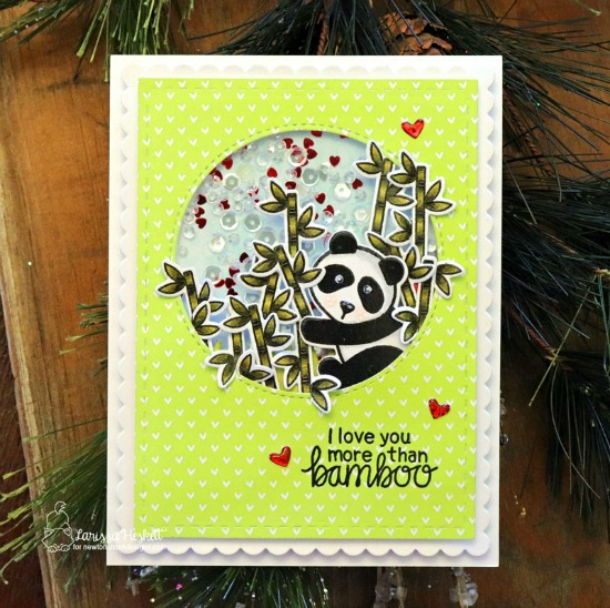 Love You More than Bamboo Panda Card by Larissa Heskett | Playful Pandas Stamp Set by Newton's Nook Designs #newtonsnook #handmade