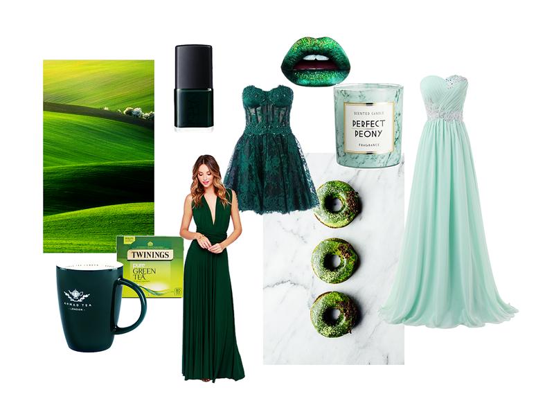 zielony moodboard