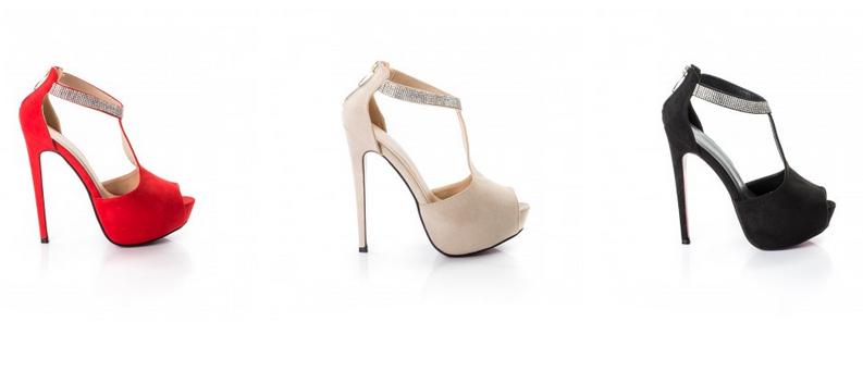 sandale elegante cu toc subtire