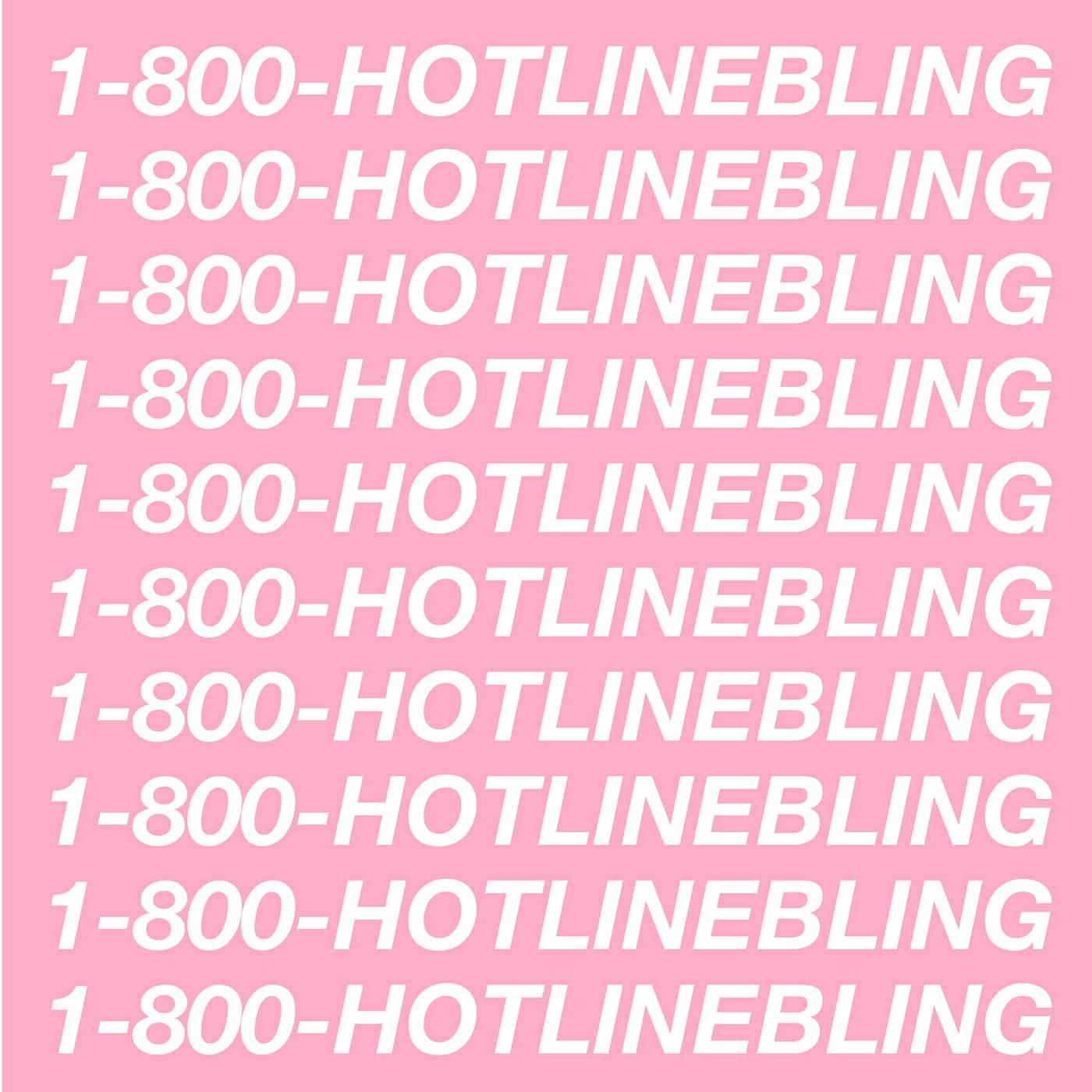 Drake - Hotline Bling - Single Cover