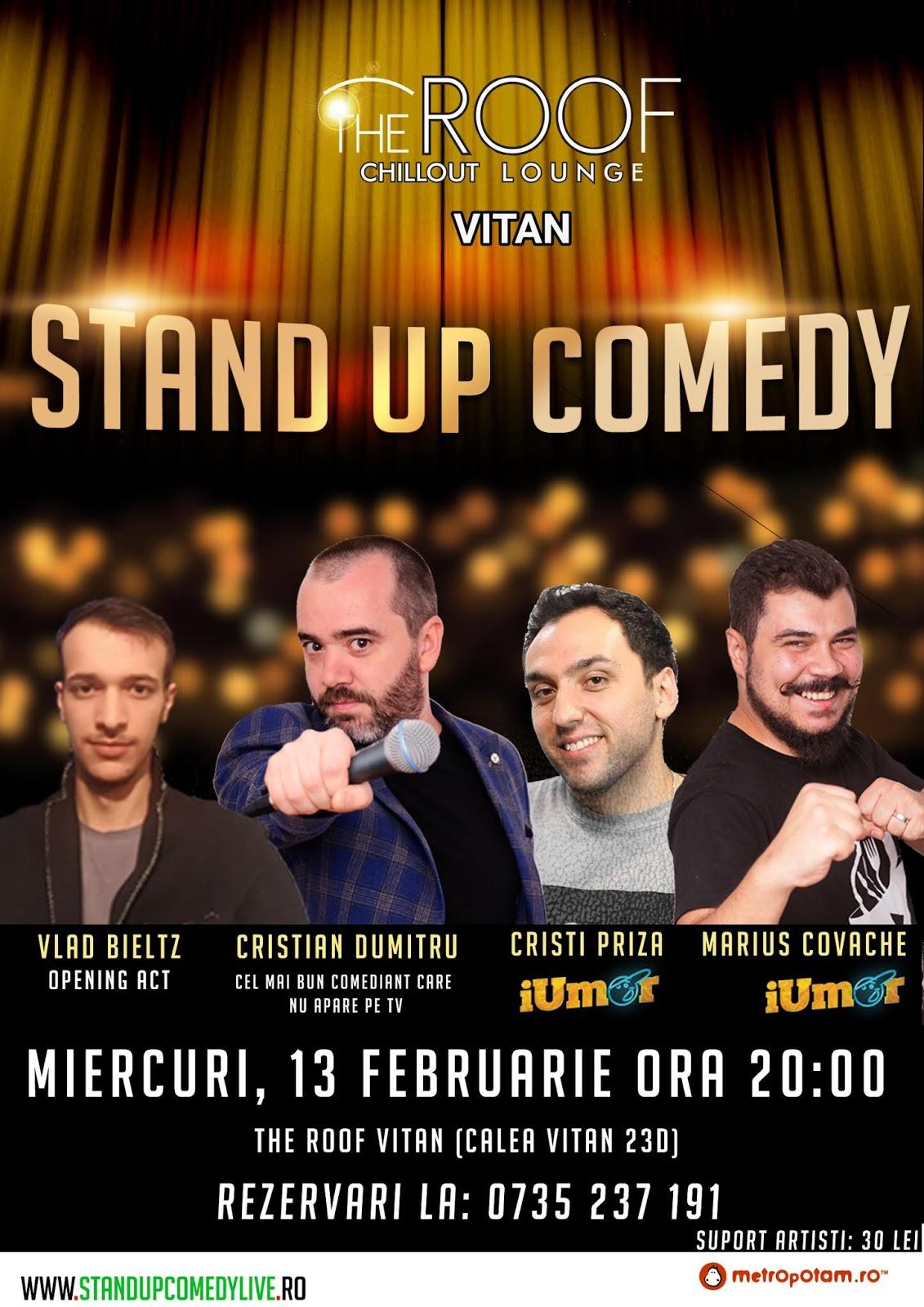 Stand-Up Comedy Bucuresti Miercuri 13 Februarie 2019