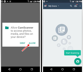 how to scan document by mobile