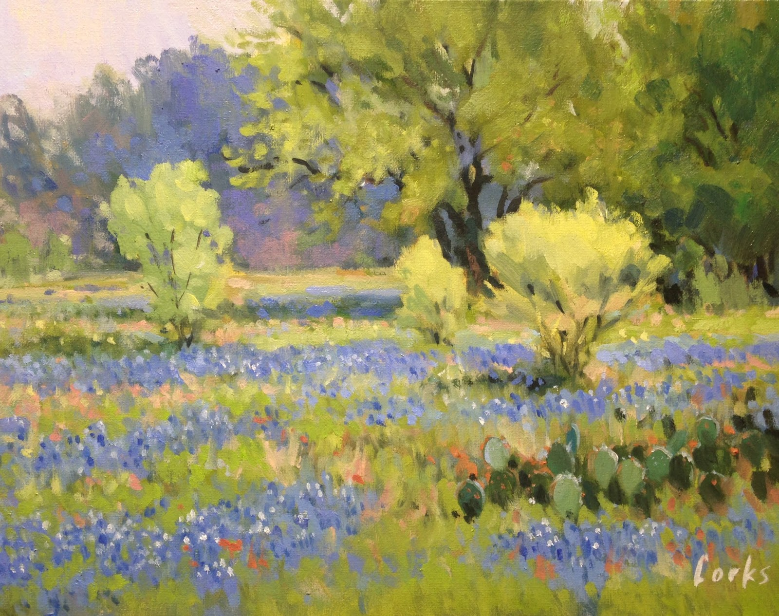 Landscape Artists International Early Spring In Texas By