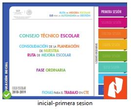 PRIMERA SESIÓN DE CONSEJO TÉCNICO ESCOLAR