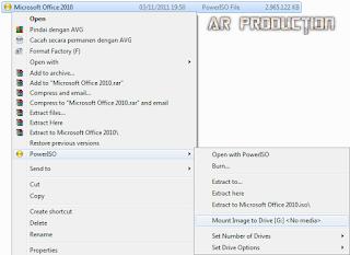 Tahap pertama Instalasi Microsoft Office 2010