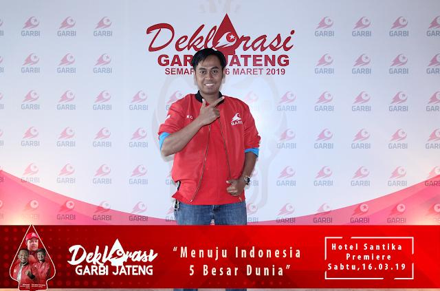 Jasa Photobooth Semarang/ Event Deklarasi Garbi Jateng 2019 pada 16 Maret 2019